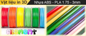 Vật liệu in 3D - Sợi nhựa in ABS PLA nhiều màu sắc