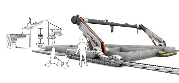 3D Printed House may in 3d tuong lai, may in ngoi nha khổng lồ