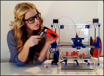 Hình dáng máy in 3D Máy in 3D có đủ loại từ bé như thùng máy tính