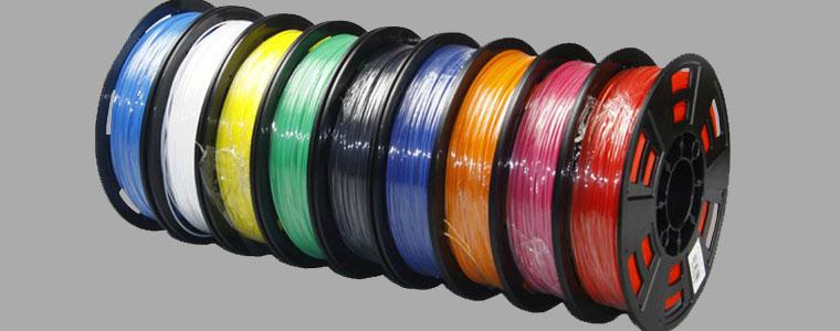Vật liệu in 3D - Sợi nhựa in ABS PLA nhiều màu sắc - đẹp và giá rẻ
