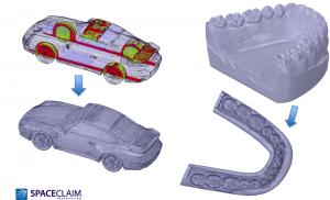 Spaceclaim 2014 hỗ trợ xử lý mô hình trước khi xuất sang máy in 3D