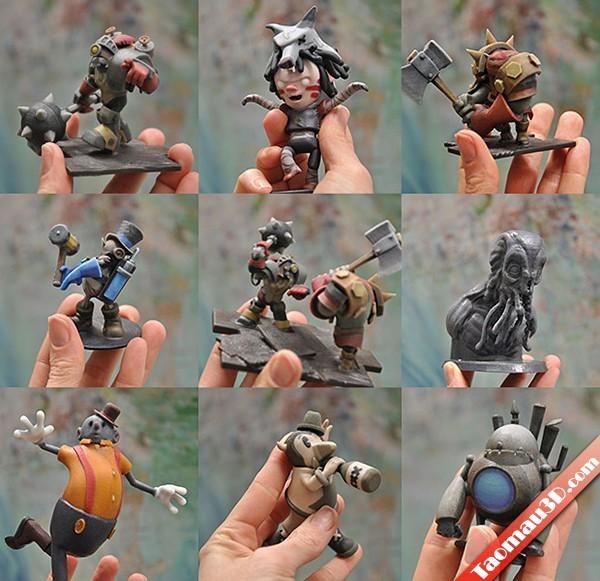 Mẫu thiết kế 3D nhân vật game