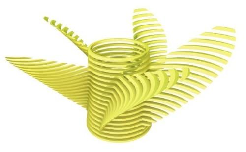 Mẫu in 3D sẽ được tạo theo các lớp như thế này