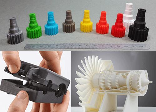 Sản phẩm in 3D với nhựa in 3D ABS PLA, tạo mẫu in 3D PLA chi tiết máy, in 3D chất liệu ABS