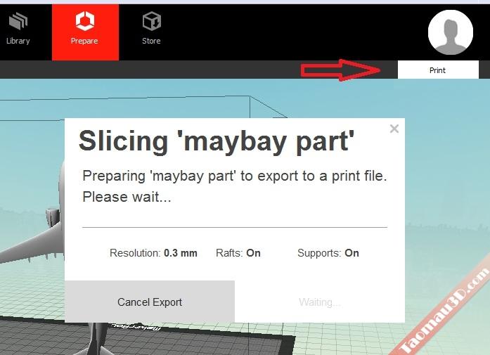 MakerBot MakerWare, Dùng phần mềm makerbot để in 3D | Xuất file máy in 3D