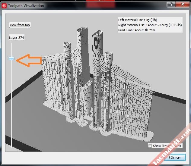 Chỉnh support cho mô hình in 3D
