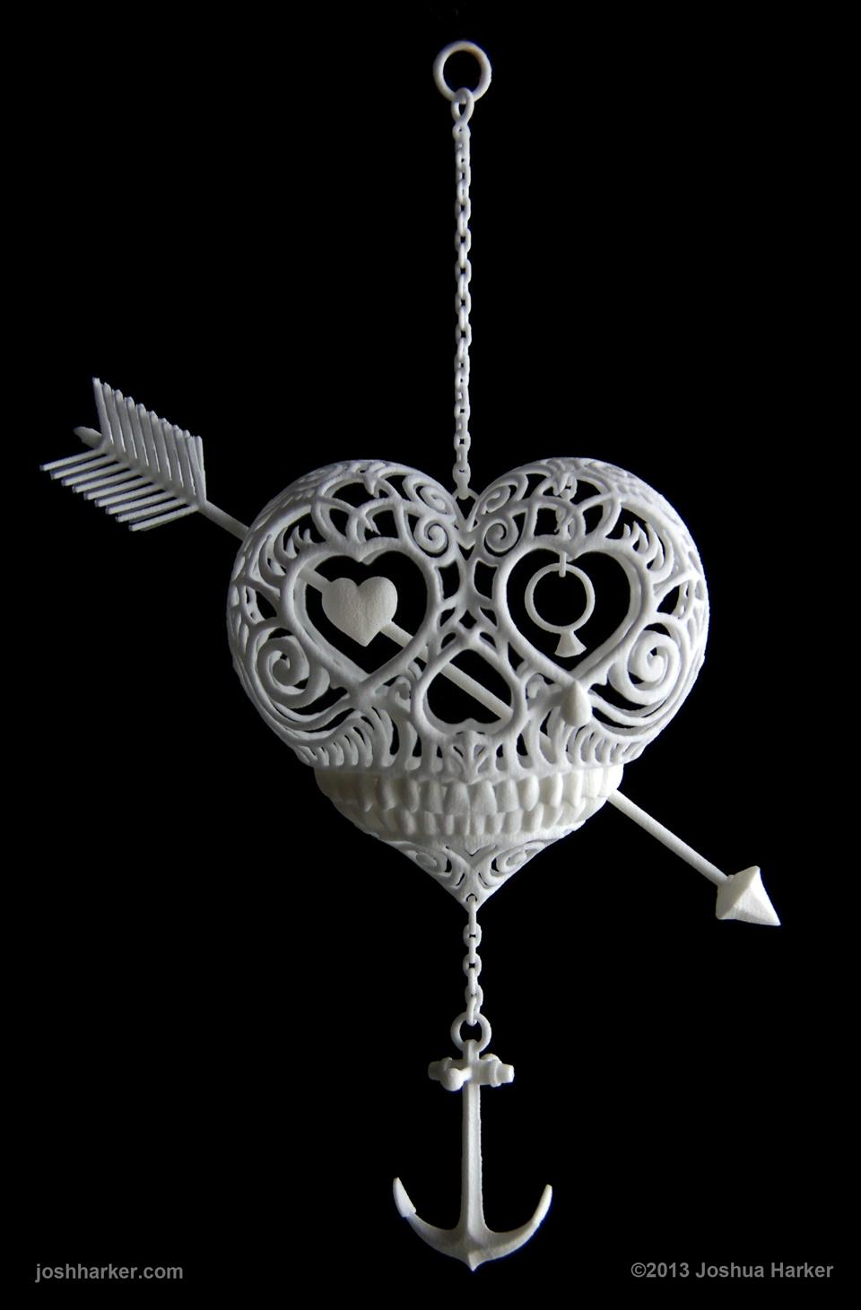 trái tim 3d, Máy in 3D làm ra sản phẩm nghệ thuật độc đáo. Máy in 3D làm được gì?