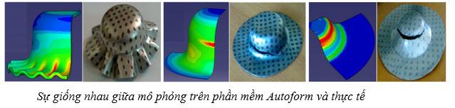 Sự giống nhau giữa mô phỏng trên phần mềm Autoform và thực tế