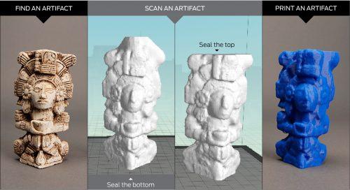 Scan quét mẫu 3D mỹ nghệ - bích họa - tượng - hoa văn trang trí