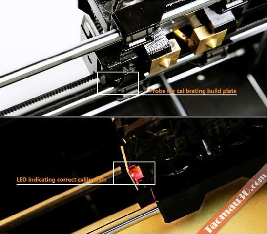 Đánh giá máy in 3D Mbot Grid II, cam bien tu dong dieu chinh buildplate may in 3d