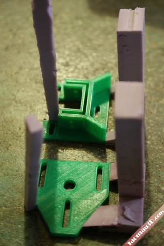 in 3D phôi trong đúc khuôn mẫu cháy, mau in 3d nhua mau xanh