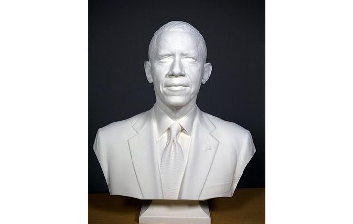 Dựng tượng Obama với công nghệ scan 3D và in 3D