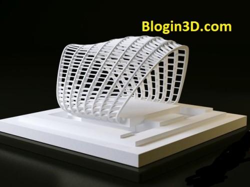 in 3D mô hình kiến trúc, in 3D mau kien truc - biet thu 3D - ngoi nha 3D (2)