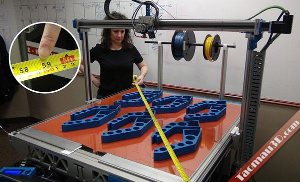 3DP1000 là chiếc máy in 3D lớn nhất thế giới, in 3D mau thiet ke to