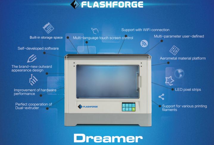 Flashforge sẽ bán máy in 3D Dreamer