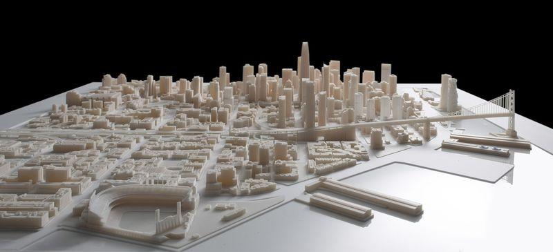 Mô hình in 3D thành phố San Francisco