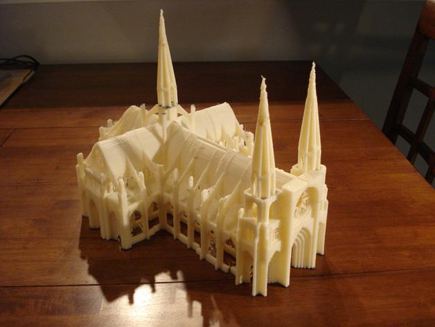 Dán các thành phần của nhà thờ Đức Bà in 3D