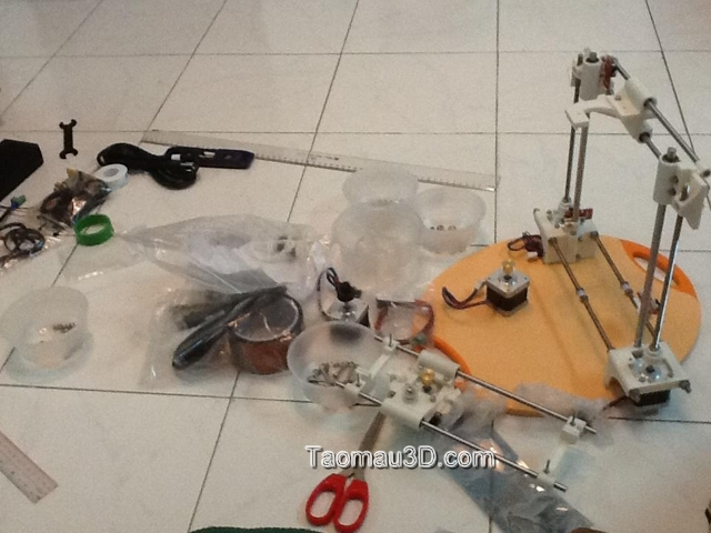 lap rap may in 3D Reprap portabee rap truc Z