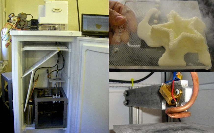 Máy in 3D thức ăn: tạo mẫu kem
