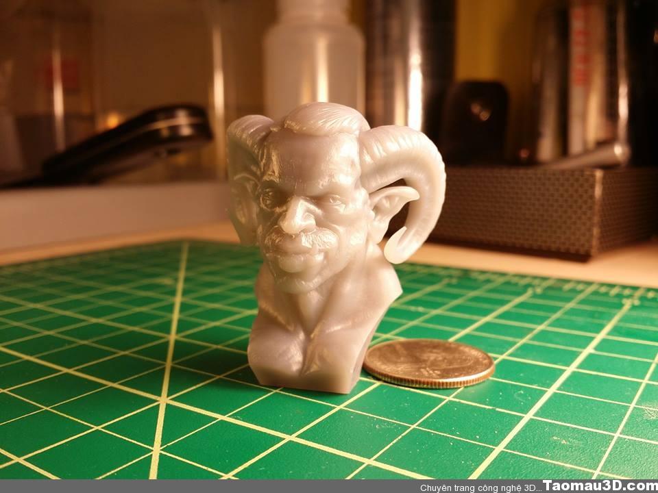 Tạo mẫu nhanh trên máy in 3D Form1. Độ phân giải 0.05mm. Thời gian in: 3h 2op