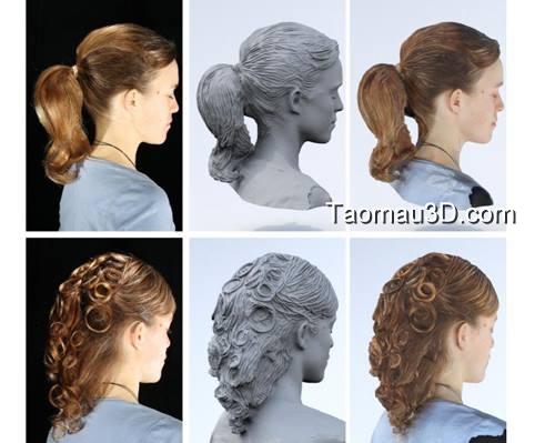 phương pháp tạo mẫu tóc để in 3D