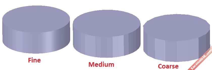 Các mô hình STL với số lượng lưới khác nhau, sẽ ảnh hướng tới hình dáng của mẫu in 3D