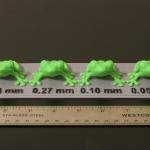 Chiều cao lớp in 3D: Đây là thông số chính ảnh hướng tới độ mịn của mô hình 3D