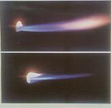 Ngọn lửa từ mỏ hàn thường có màu xanh như thế này, nhiệt độ có thể lên đến 3000 độ C.