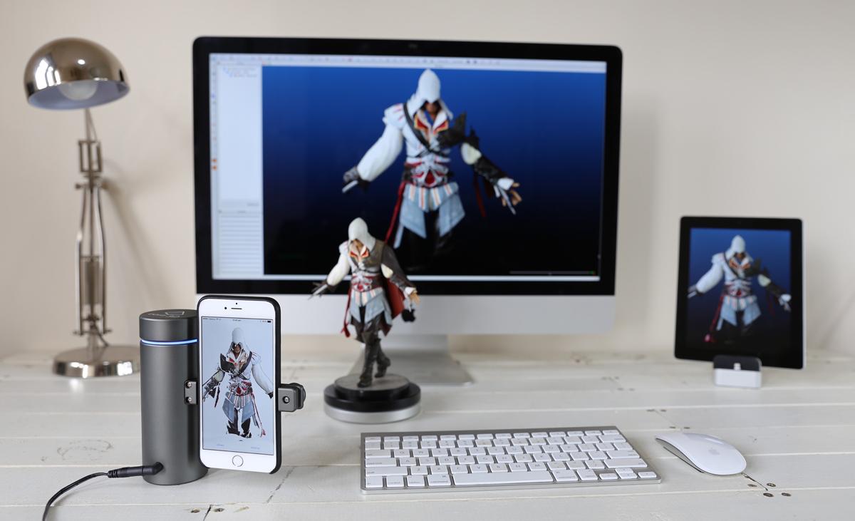 ảnh hệ thống scan 3D mini dành cho iPhone: