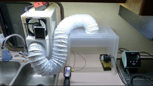Một hệ thống hút khí tự chế