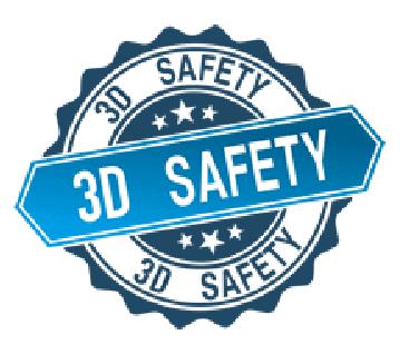 Logo của 3Dsafety, 3D-safety Hơi thoát ra từ nhựa in 3D ABS/PLA độc thế nào?