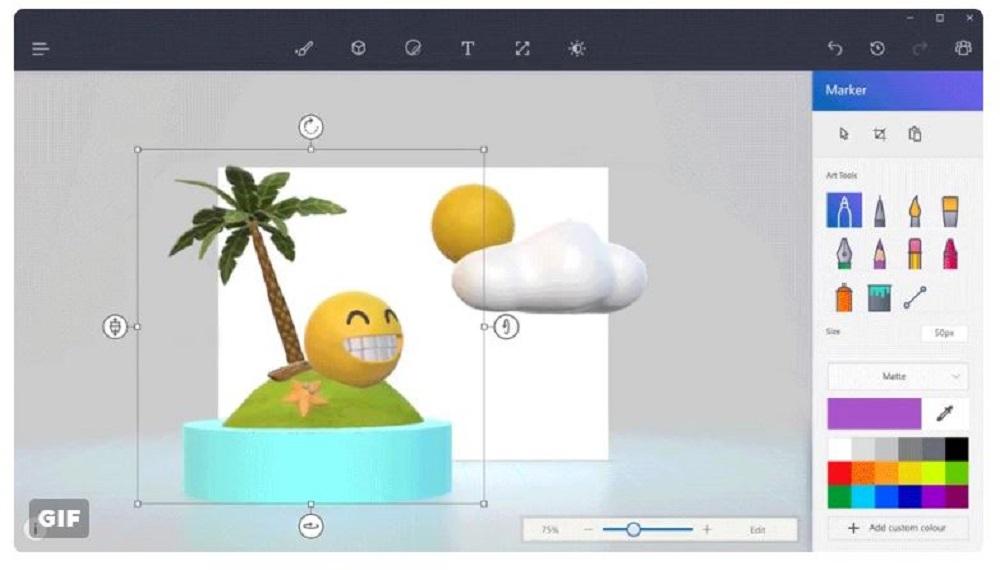 PAINT 3D - công cụ vẽ 3d miễn phí ngày trong Windows 10