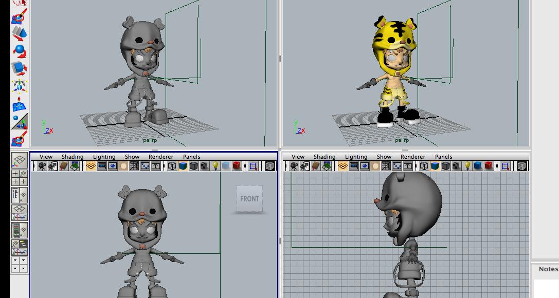 chuyển file 3d zbrush sang phần mềm maya animation