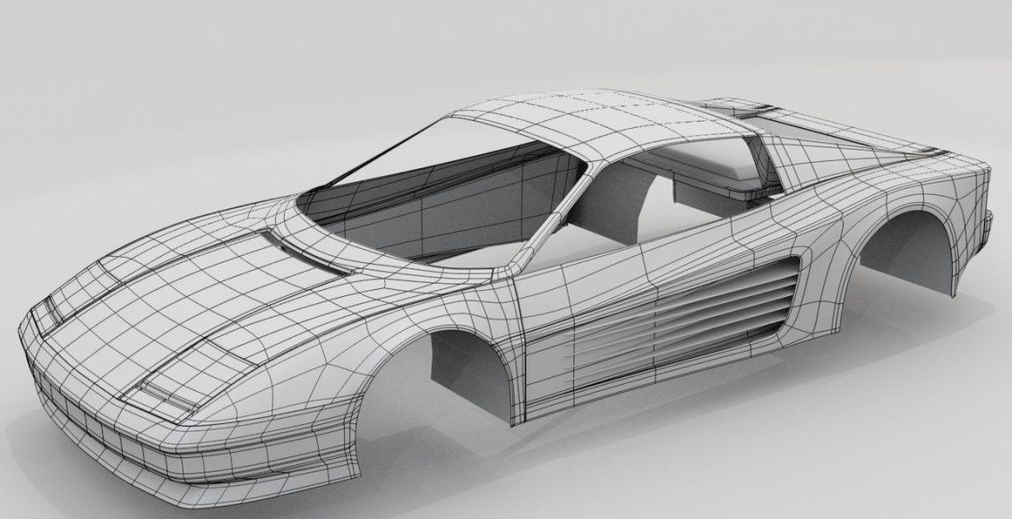 Xe oto được thiết kế 3D trong phần mềm Maya