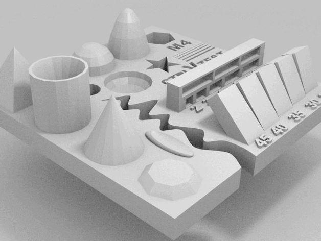 file test máy in 3d , kiểm tra dung sai kích thước mô hình