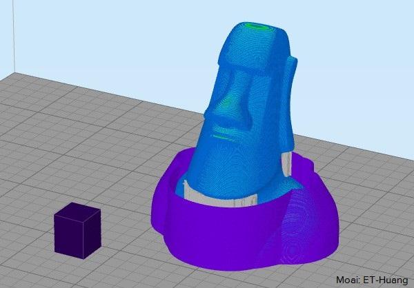 Nếu bạn muốn in mô hình phức tạp với support là chất liệu khác với mẫu, thì nên chọn các dòng máy có 2 đầu phun. Thậm chí bạn có thê rin 2-3 màu trên cùng 1 mô hình với chiếc máy đó! Và simplify3D là lựa chọn khôn ngoan trong trường hợp này
