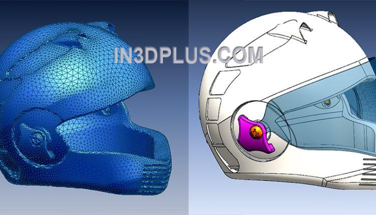 Scan 3D và thiết kế ngược mẫu nón bảo hiểm