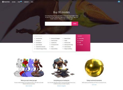 Sketchfab Store - sàn mua bán mô hình 3D mới ra đời