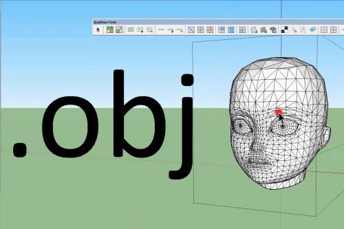 file skp thành OBJ trong sketchup