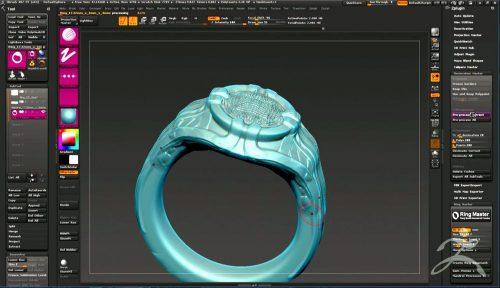 thiết kế 3D nữ trang zbrush