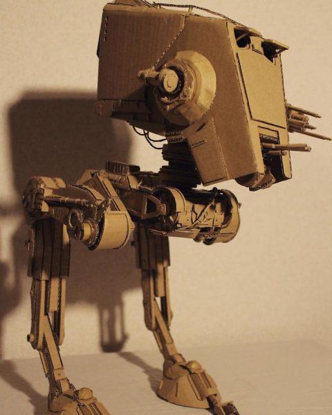 Siêu robot chiến binh trong phim giả tưởng, handmade bia carton thanh mo hinh 3D (1)