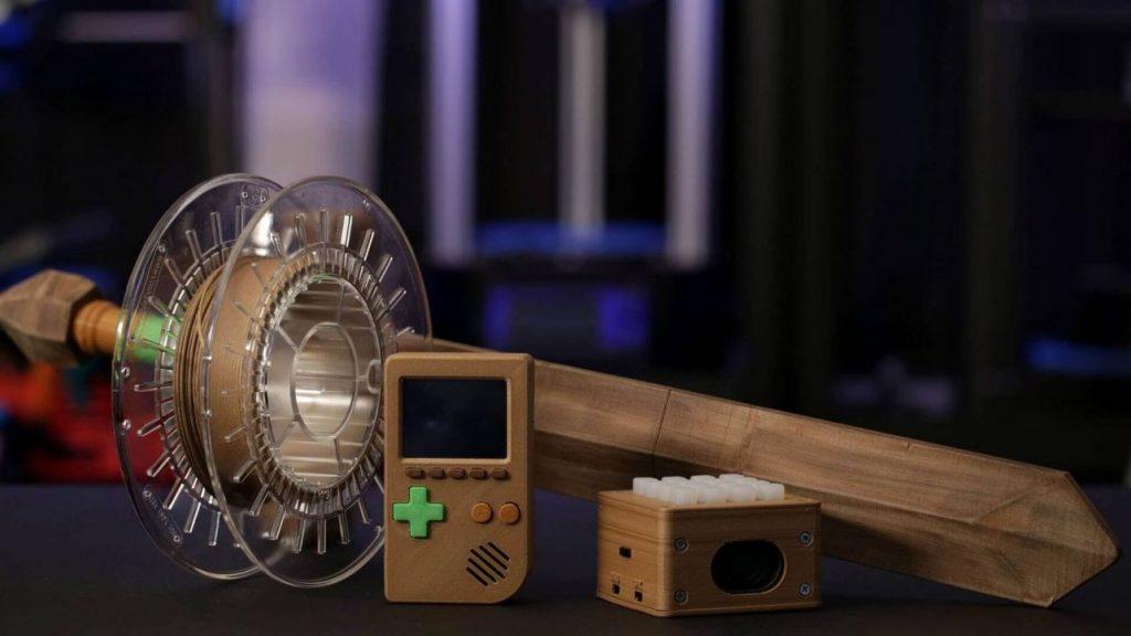 Nhựa in 3D chất liệu gỗ, nền hạt xenlulo