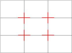 Chúng ta vẫn quen thuộc với ten gọi nguyên tắc 1/3 (Rule of Thirds)