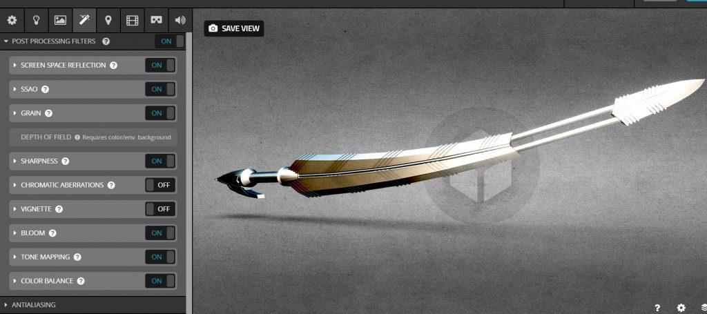 Tạo hiệu ứng render thanh kiếm sắc lẹm với Sketchfab