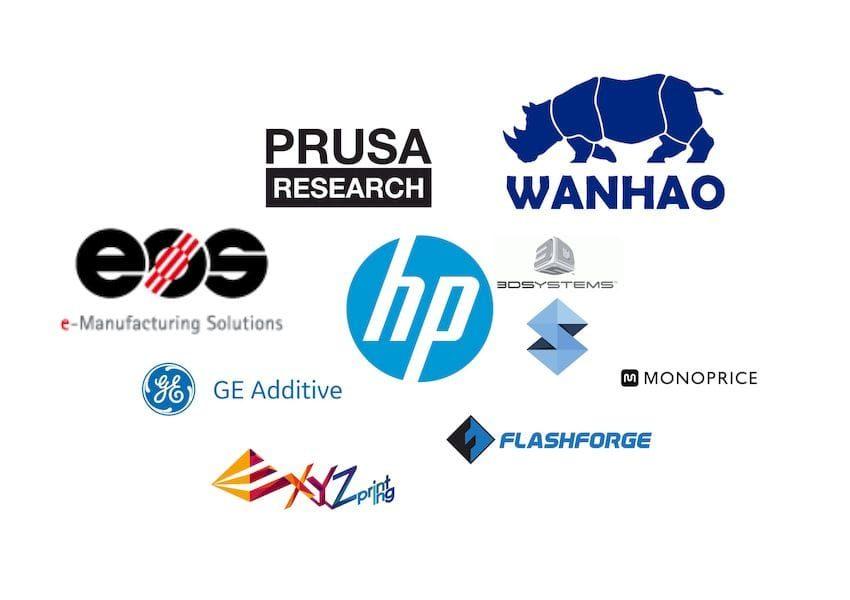 Các nhà sản xuất máy in 3D và linh kiện 3D lớn nhất hiện nay