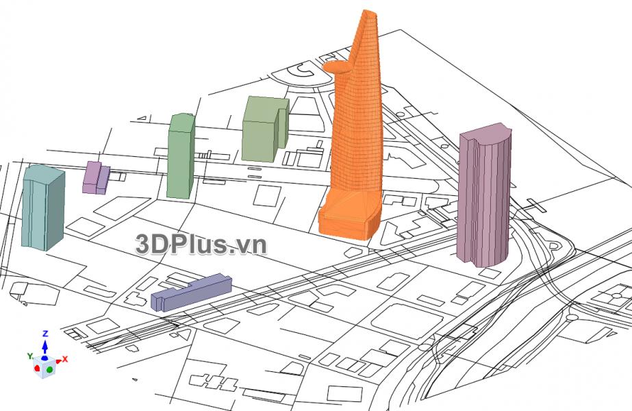 ban do 3D bitexco, tphcm 3D