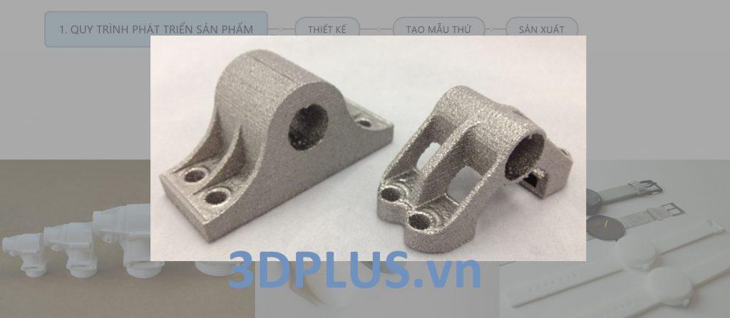 gối đỡ vật liệu titan, được in 3D kim loại