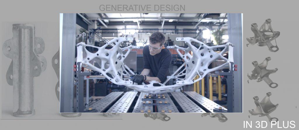 Đây là 1 phần của bộ phận hạ cánh, tàu thăm dò của NASA. Được thiết kế theo phương pháp Generative Design. In 3D bằng chất liệu titan.